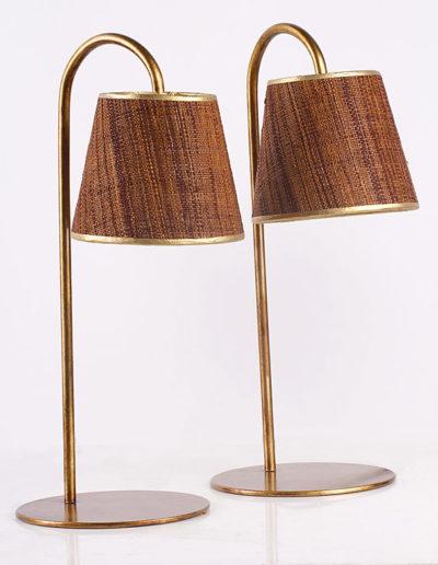 Lámpara calitas dorada