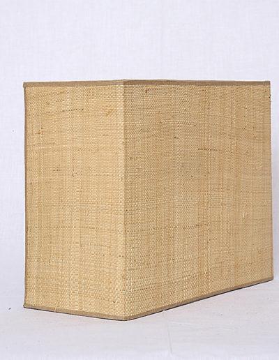 Apliqué rectangular raffia fina