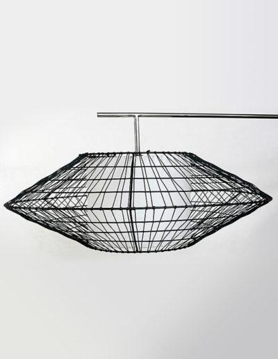 Lámpara ovni PV cuerito negro