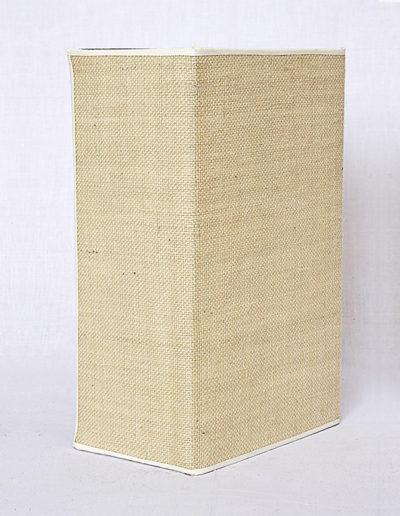 Apliqué rectangular yute crudo