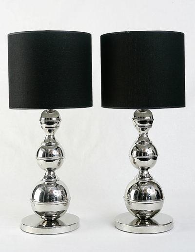 Lámpara bolas 3 tamaños cromo