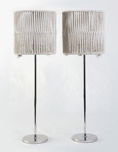 Lámpara Fifi cromo H 40 base pesada pantalla cordel