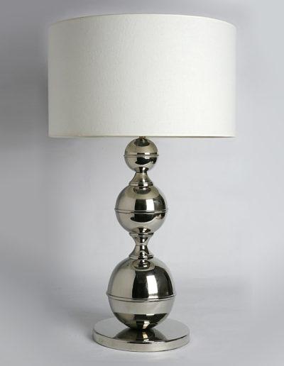 Lámpara bola 3 tamaños cromo