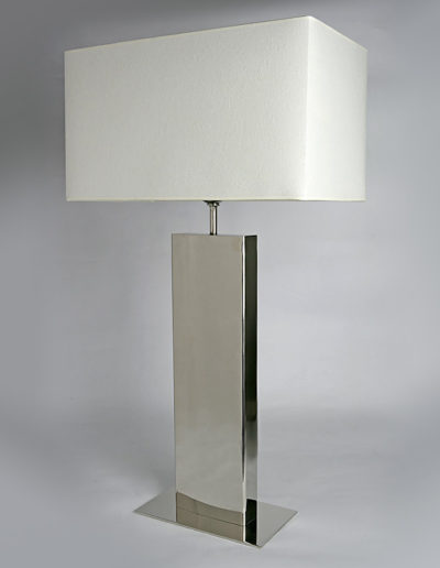 Lámpara pedestal cromo