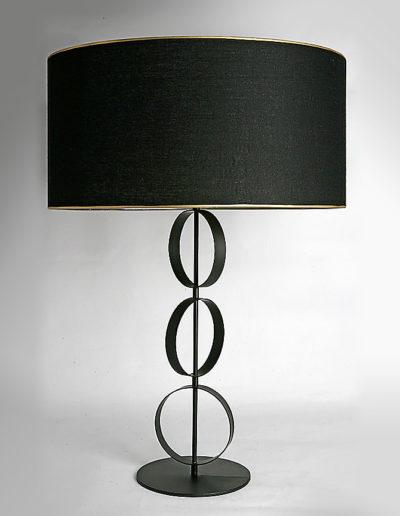 Lámpara círculos móvil negra