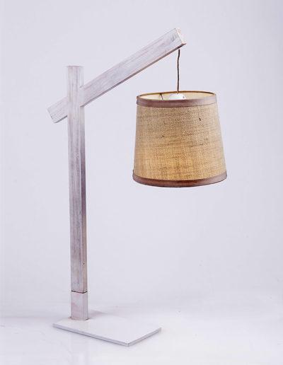 Lámpara fashion madera castaño