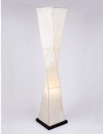 Lámpara escultura pergamino
