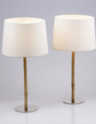 Lámpara Fifi bambú base cromo
