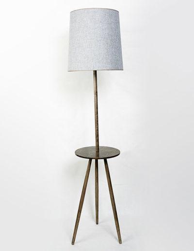 Lámpara retro mesa castaño