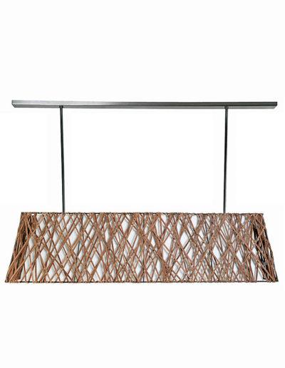Lámpara piramidal cuero real