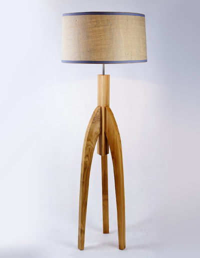 Lámpara africana castaño natural