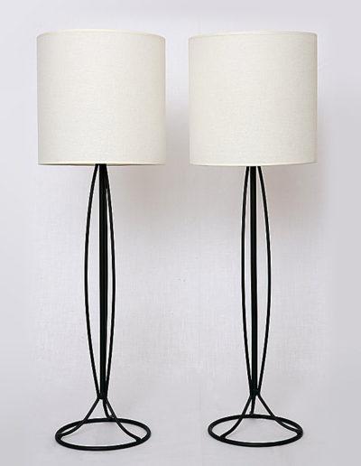 Lámpara candelabro metal negro