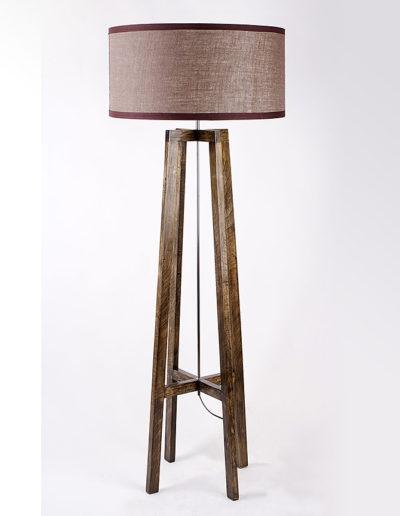 Lámpara atril madera castaño oscuro