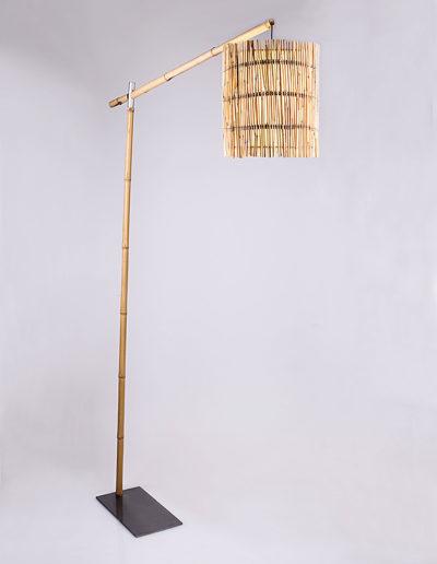 Lámpara fashion bambú, pantalla bambú