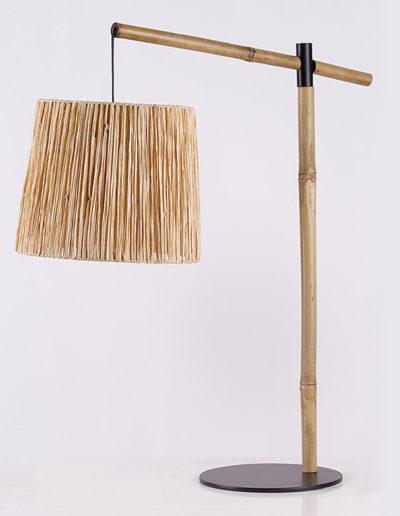 Lámpara fashion bambú pantalla raffia