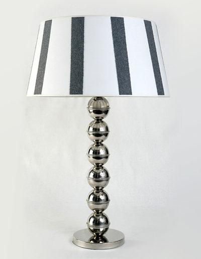 Lámpara bolas 8cm cromo